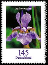Briefmarke 1,45 Schwertlilie